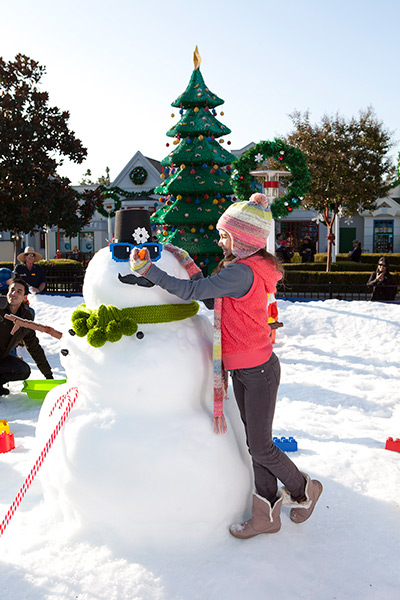 Let the fun fly! And snowballs too. Legoland's Snow Days, Winter Nights.